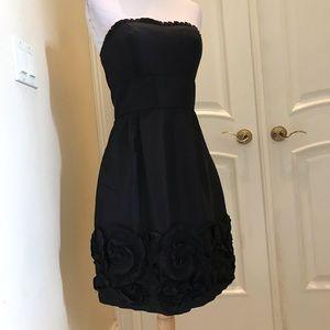 NWT Max & Cleo black taffeta strapless dress